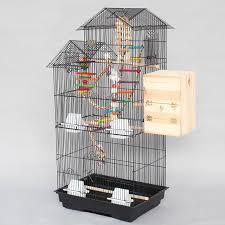 gabbie per grande top casa gabbie per uccelli di ferro nero bianco a