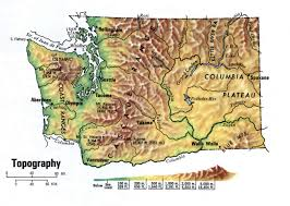 Map Of Spokane Landscape Map Washington