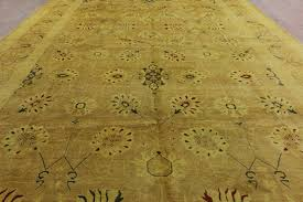 12x18 Area Rug Oushak Collection Handmade 12x18 Knotted Ivory Wool