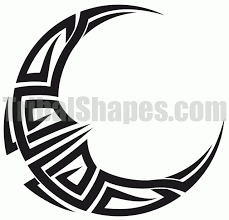 http tribalshapes com img tattoos moon 5 gif all