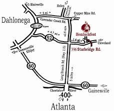 Atlanta Bypass Map by Hemlockfest November 2 4 2012 Dahlonega Ga