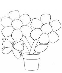 download simple flower coloring pages butterfly print