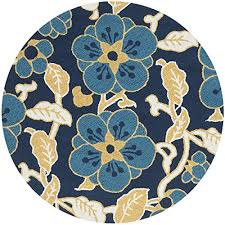 Round Tropical Area Rugs Safavieh Four Seasons Collection Frs492a Hand Hooked Navy And