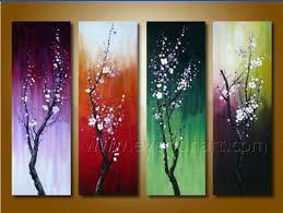 beautiful canvas seasons flower painting on canvas fl4
