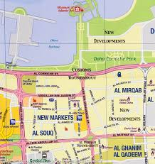 doha qatar map map of qatar city map of doha itm mapscompany
