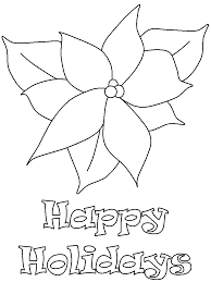 poinsettia2 christmas coloring pages u0026 coloring book