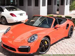 Porsche 911 Orange - 2016 porsche 911 turbo s