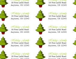 holiday return address labels template haven