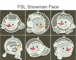 fsl cuddly snowmen free standing lace machine embroidery