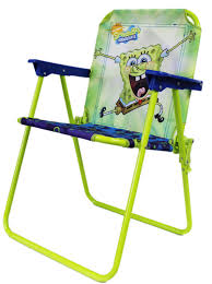 Kids Patio Chairs by Blue And Neon Green Spongebob Squarepants Folding Lawn Chair For