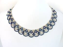 free beading pattern for scalloped lace necklace seed bead