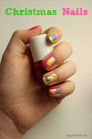 kid friendly polish christmas nails idea plus a piggy paint