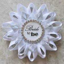 Bridal Shower Images by Bridal Shower Decorations Bride To Be Pin Bride To Be Corsage