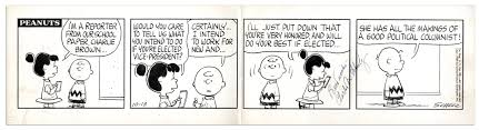 lot detail charles schulz hand drawn original u0027 u0027peanuts u0027 u0027 comic