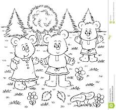 goldilocks and the three bears coloring sheet free coloring