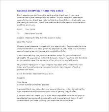 ideas of thank you letter after interview internal position sample