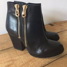 womens boots rivers uk size 4 womens river island black leather ankle boots gold