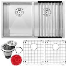 Ticor Kitchen Sinks Ticor S3560 Kit Stainless Steel 16 Bowl Undermount
