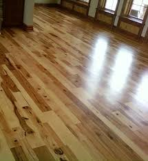 hickory wood flooring rustic living room other by