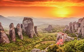 Meteora Greece Map by