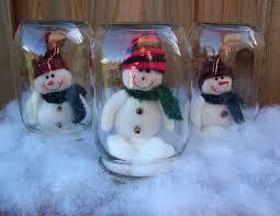 decorations chic snowmans jar snow globe diy crafts