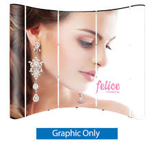 wave 8 ft pop up graphic only pvc 5 graphic panels