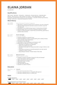 resume samples for servers restaurant server resume template
