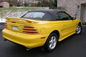 1995 mustang convertible top 1995 mustang gt convertible canary yellow mustangs