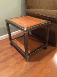 Expanding Square Table by Welded End Table 1 1 2 Square Tubing And 3 4
