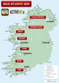 Dublin Ireland Map Wild Atlantic Way Route Map U0026 Guide Ireland Activeme Ie