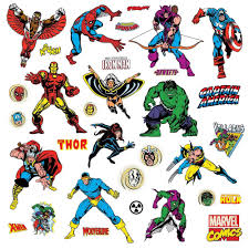 comic book avengers giant stickers great kidsbedrooms