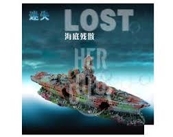 aquarium decoration lost cruise ship for fish tank resin ornaments
