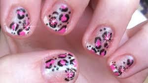 how to shellac pink cheetah print nails youtube