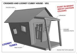 crooked cubby house play house v05 building plans new looney