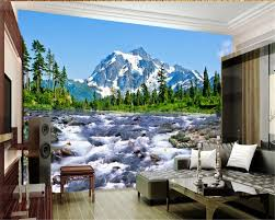 wall mural mountains promotion shop for promotional wall mural beibehang home decoration wallpaper painting snow mountain plateau 3d landscape wall murals papel de parede 3d wallpaper tapety