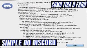 discord javascript error como tirar o error javascript do discord youtube