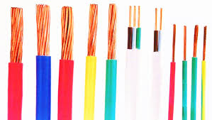 thin electrical wire colors black grey blue brown yellow green