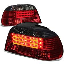 e38 euro tail lights 95 01 bmw e38 7 series pair of smoked lens red led rear brake signal