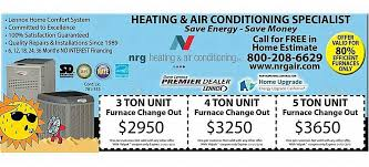 Owens Comfort Systems Coupons Nrg Heating And Air Conditioning