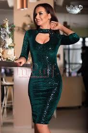 inpuff rochii rochie de seara din catifea verde cu paiete pret 285 inpuff