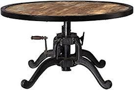 adjustable height end table amazon com industrial adjustable height coffee table ajdustable