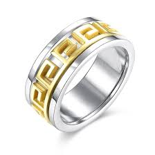 men gold ring wholesale trendy 24k gold plated geometric ring for men sstr012