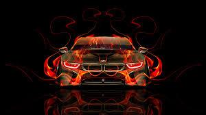 Bmw I8 Orange - bmw i8 front fire abstract car 2014 el tony