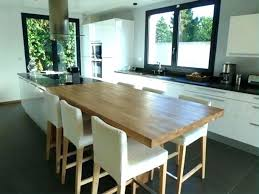 cuisine table ilot de cuisine avec table newsindo co