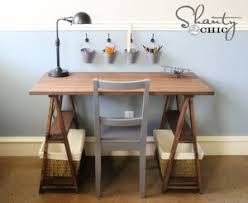 Diy Trestle Desk 13 Free Diy Desk Plans You Can Build Today