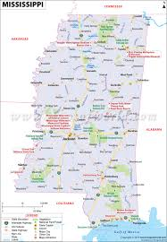 Usa Highway Map Map Of Mississippi Mississippi Map Ms