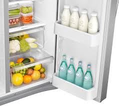Samsung Counter Depth Refrigerator Side By Side by Samsung Rs25j500dsr 36 Inch Side By Side Refrigerator With