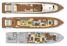 Yacht Floor Plan by Guy Couach 3700 Motor Yacht Arion
