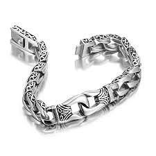 silver bracelet designs images Crafty design men silver bracelet mens bracelets uk s watch ebay jpg