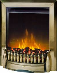 exbury antique brass optiflame electric inset fire dimplex
